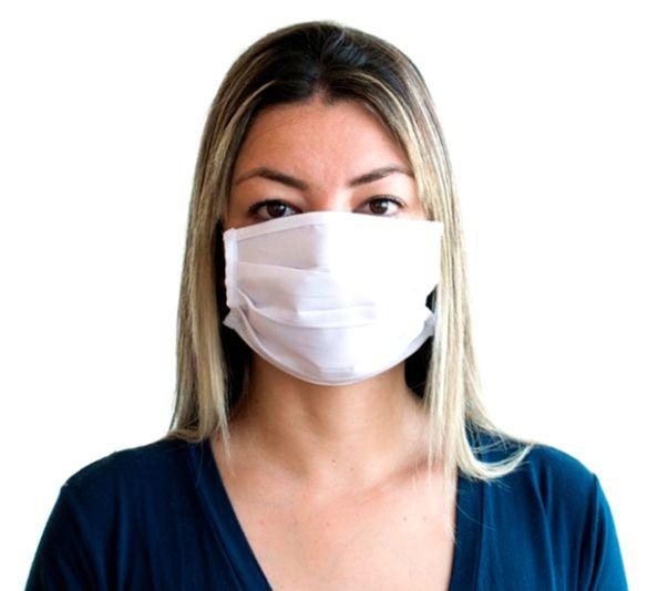 Kit Com 50 Máscaras de Tecido Gabardine Reutilizável e Lavável