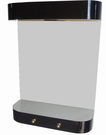 Console Com Espelho Spot Para Iluminação e 2 Gavetas Para Salão de Beleza