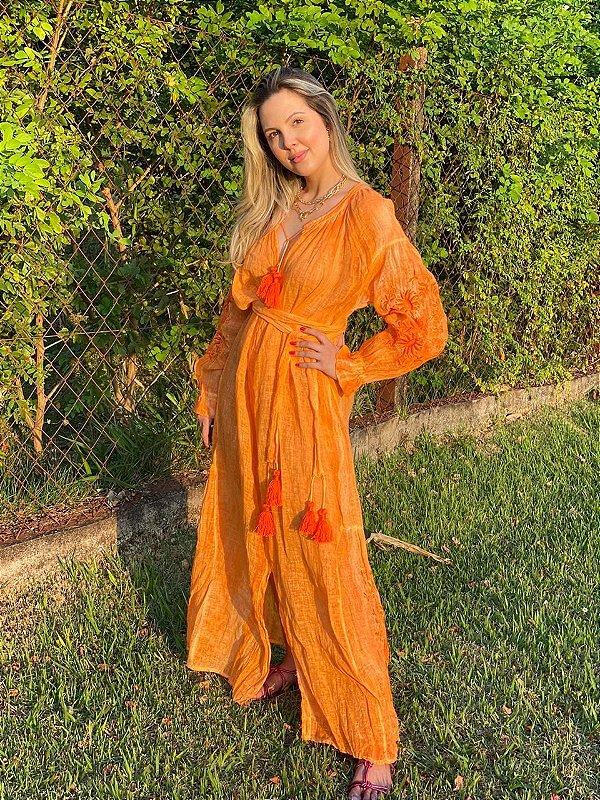 Vestido Gaze de Linho