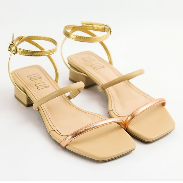 Sandália Bistrô Colors Salto Bloco Baixo
