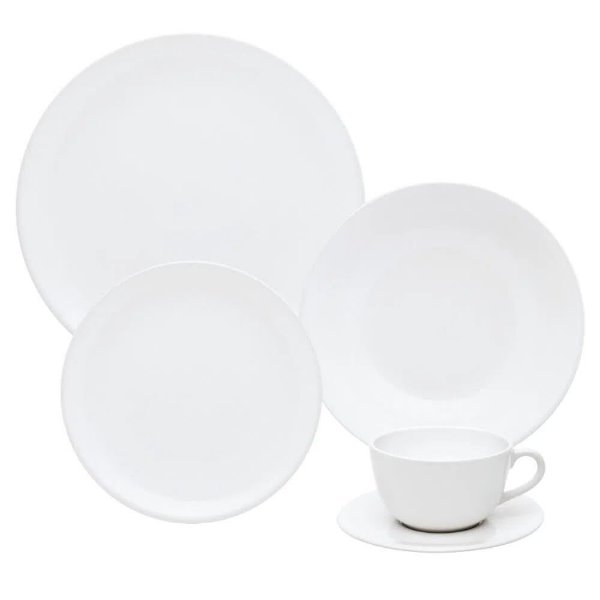 Aparelho de Jantar e  Chá Unni White - Oxford