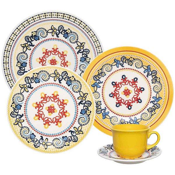 Aparelho de Jantar e  Chá Floreal La Pollera - Oxford