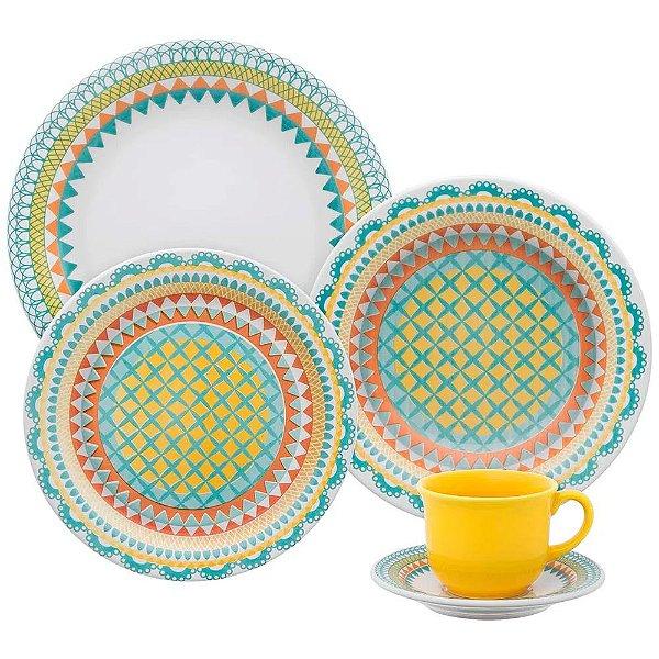 Aparelho de Jantar e  Chá Floreal Bilro - Oxford