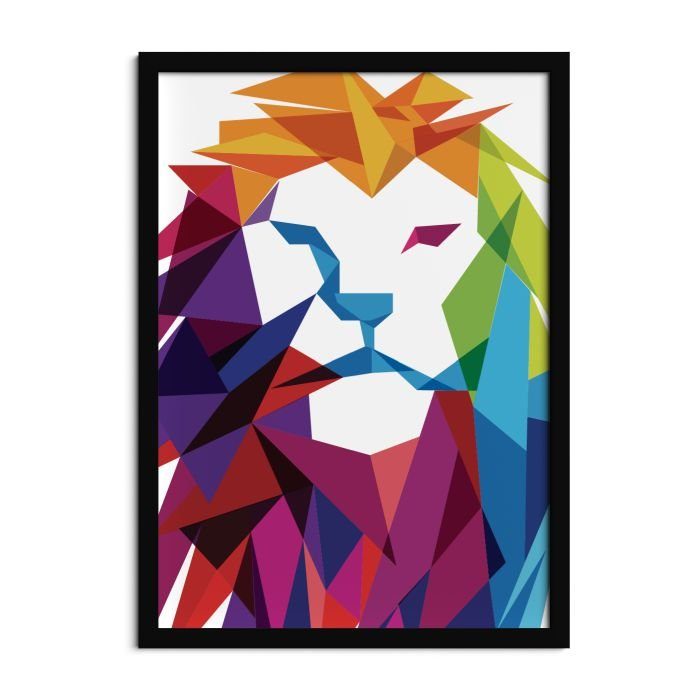 Quadro Leão color