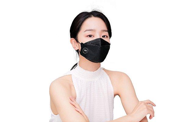 Máscara importada da Coreia - PFF2/KN95/KF94 100% Proteção do Vírus Certificada Pela Anvisa-Coreana e FDA da USA Pacote de 10pcs (PRETO)