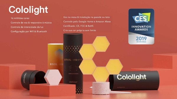 Cololight - Cria as cores e formatos do jeito que você imaginar!
