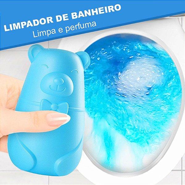 Urso Azul - Bloco Sanitário Azul para Caixa Acoplada, Desodorizador de Sanitário