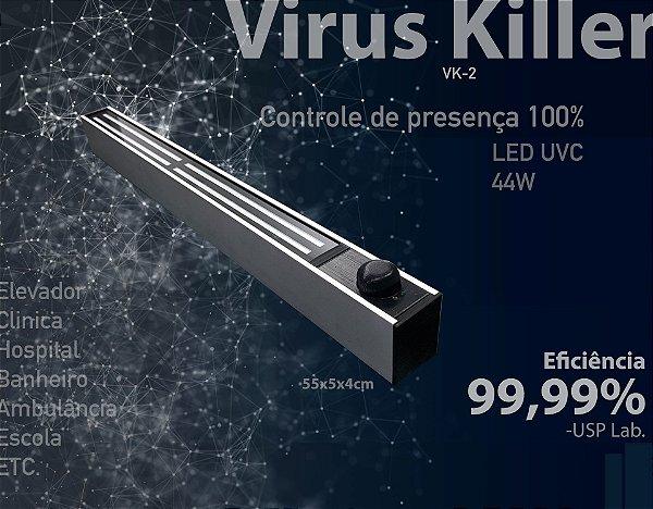 Virus Killer, Elimina Virus, Bactéria e Fungos com Raio de Ultravioleta tipo C (UVC) com LED Ultravioleta