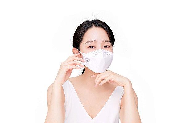Máscara importada da Coreia - PFF2/KN95/KF94 100% Proteção do Vírus Certificada Pela Anvisa-Coreana e FDA da USA Pacote de 10pcs (BRANCO)