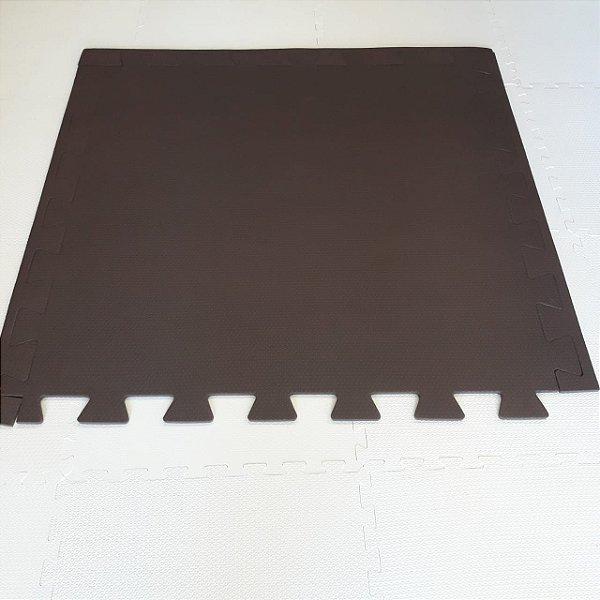 Tatame Marrom 1,04m X 1,06m X 10mm + 3 Bordas de Brinde