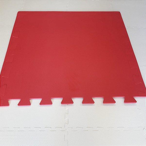 Tatame Vermelho 1,04m X 1,06m X 10mm + 3 Bordas de Brinde