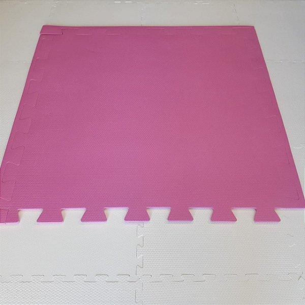 Tatame Rosa Pink 1,04m X 1,06m X 10mm + 3 Bordas de Brinde