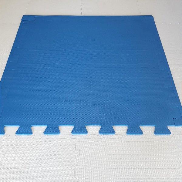 Tatame Azul Royal 1,04m X 1,06m X 10mm + 3 Bordas de Brinde