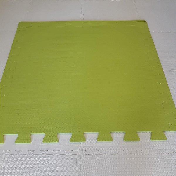 Tatame Verde Limão 1,04m X 1,06m X 10mm + 3 Bordas de Brinde