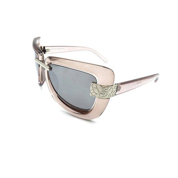 Óculos de Sol Prorider Retrô Transparente Bege Com Lente Fumê -  8017-C2