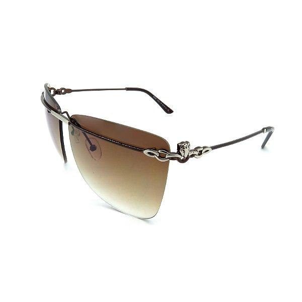 Óculos Solar Prorider Marrom Detalhado Com Lente Degradê Marrom - 4A2/DD-C2