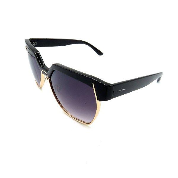 Óculos de Sol Prorider preto e dourado com Lente Degradê Fumê - B88-1255C1