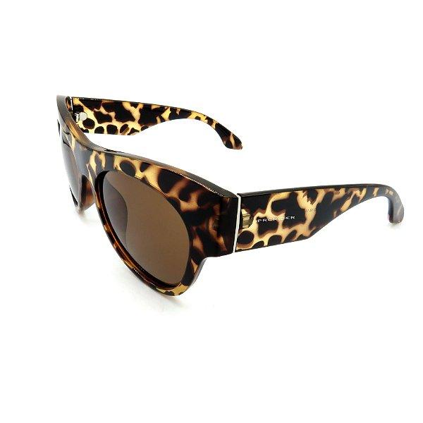 Óculos de Sol Prorider Animal Print Fosco com Lente Fumê Marrom - DM-087