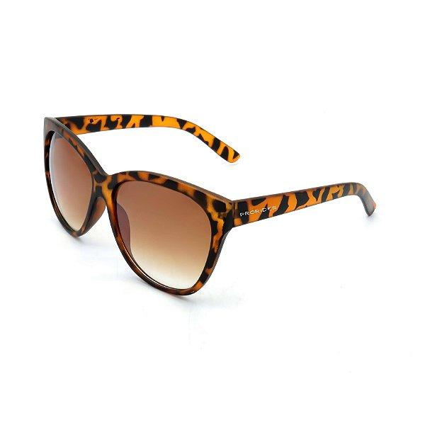 Óculos de Sol Prorider Animal Print Fosco com Lente Degradê Marrom - DM-087C1