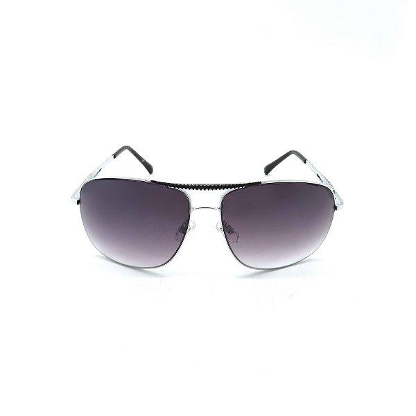Óculos Solar Prorider Prata Detalhado Com Lente Degradê Fumê  - B88-82