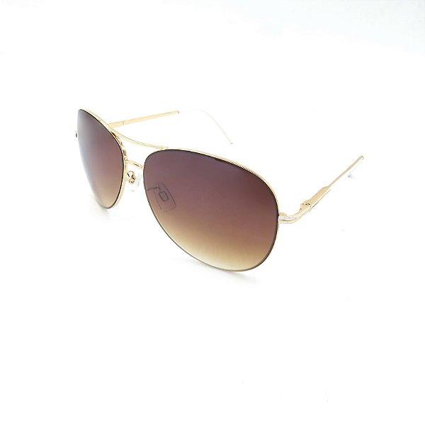 Óculos Solar Prorider Dourado Detalhado Com Lente Degradê Marrom - B88-134