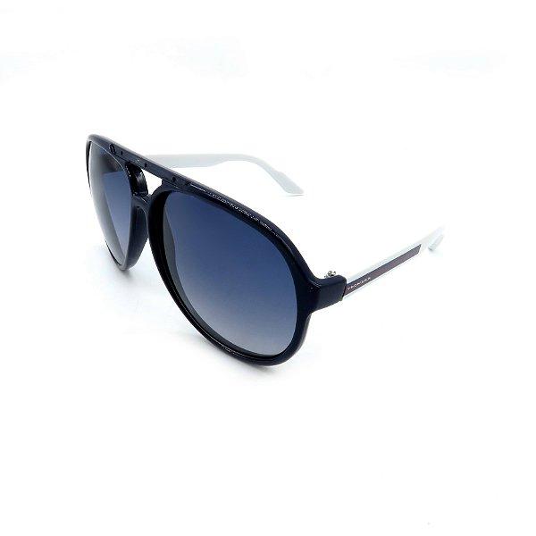 Óculos De Sol Prorider Retrô Azul e Branco com Lente Degradê Azul - B88-1011