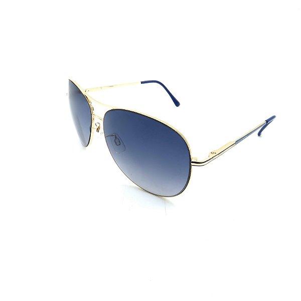 Óculos Solar Prorider Dourado Detalhado Com Lente Degradê Azul  - B88-139