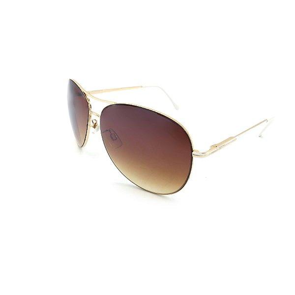 Óculos Solar Prorider Dourado Detalhado Com Lente Degradê Marrom  - B88-142