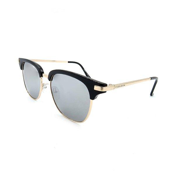 Óculos Solar Prorider Dourado Detalhado Com Lente Fumê  - LM9291C2