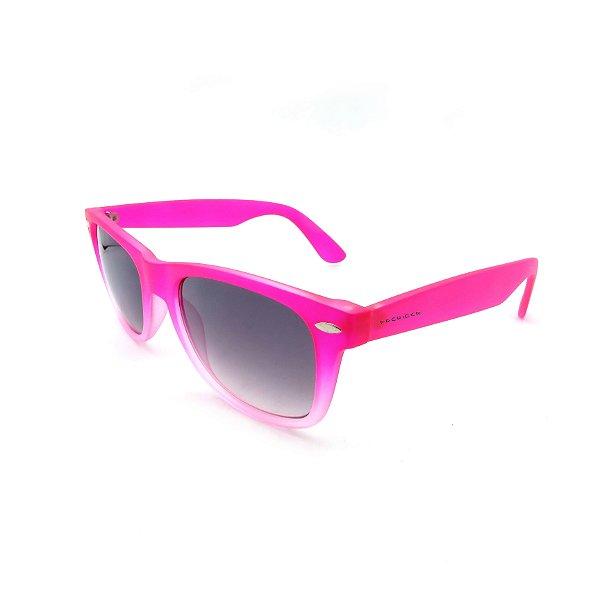 Óculos de Sol Prorider Retrô Degradê Rosa e com Lente Degradê Fumê - B88-1109