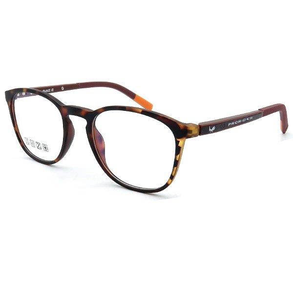 Óculos de grau pronto Prorider Concept Readers Animal Print com detalhe em Laranja e Marrom - AMPPRCR