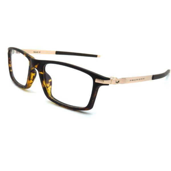 Óculos de grau pronto Prorider Concept Readers Animal Print e Dourado - ANDPCR