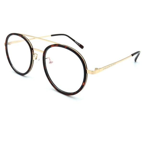 Óculos de grau pronto Prorider Concept Readers Animal Print e Dourado - ANFPRCR