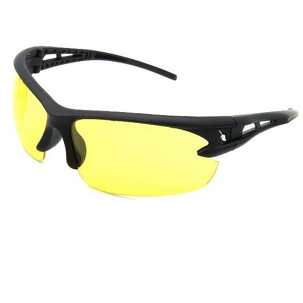 Óculos Solar Prorider Preto Fosco com Lente Amarela - AL9109