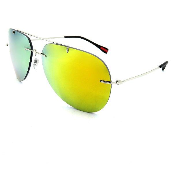 Óculos Solar Prorider Prata Com lente Espelhada - BF562R