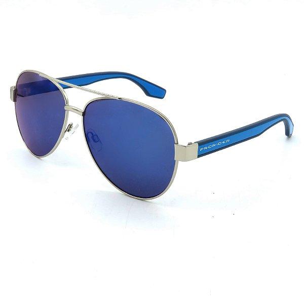 Óculos Solar Prorider Prata e azul Com lente azul - B88430