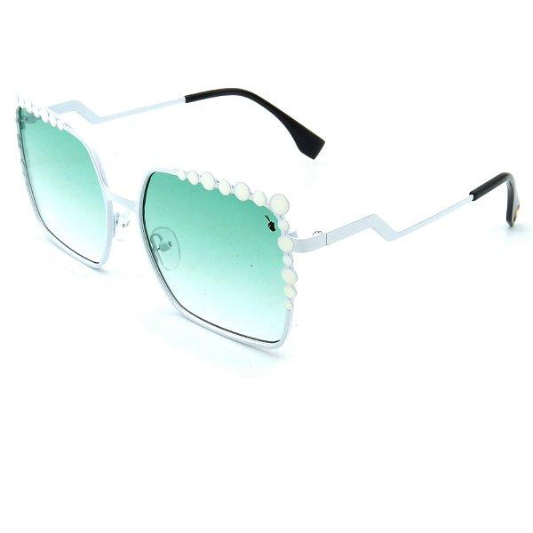 Óculos Solar Prorider Branco com Lente degrade verde  - FF0115S