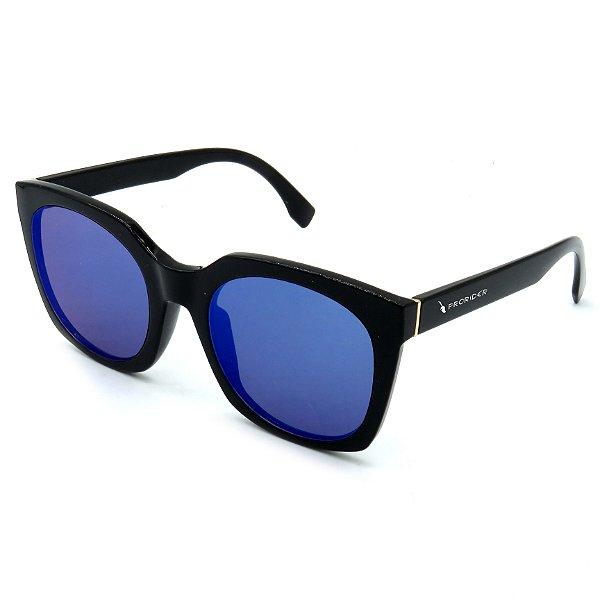 Óculos Solar Prorider Preto com lente espelhada azul - B881367