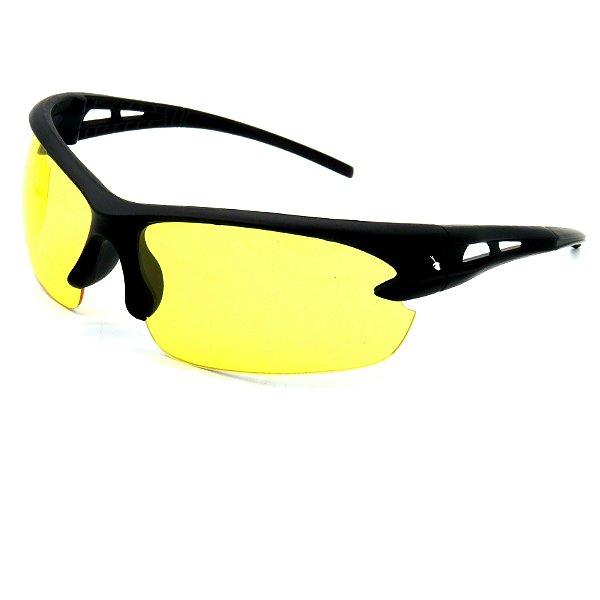 Óculos para esportes noturnos Prorider preto com lente amarela - AL9109