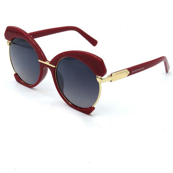 Óculos Solar Prorider Vinho e Dourado com lente degrade - S8790