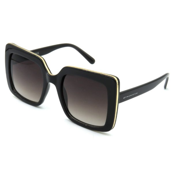 Óculos Solar Prorider Preto com detalhe em dourado e lente degrade - LQ95151