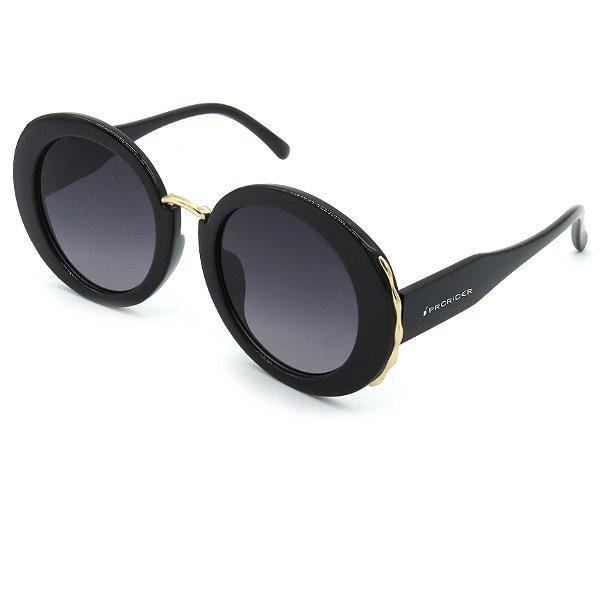 Óculos Prorider Preto redondo com lente degrade  - S8773C1