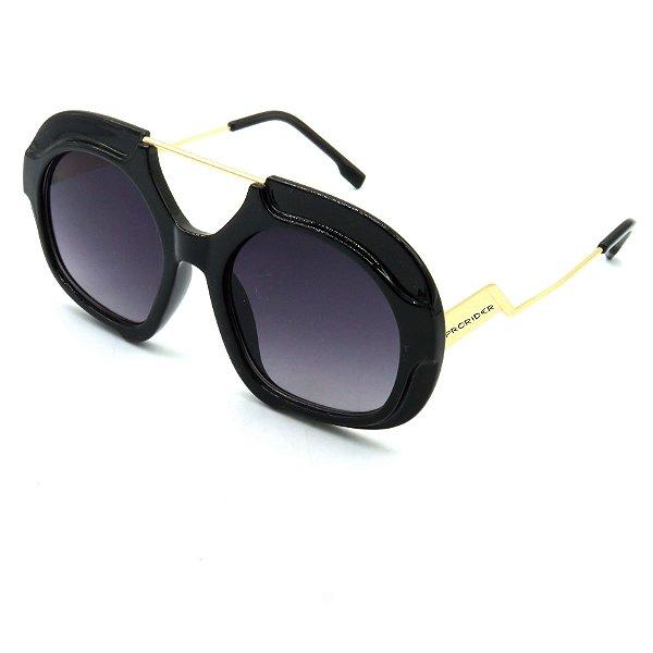 Óculos Solar Prorider Preto com lente fumê Preto-po989
