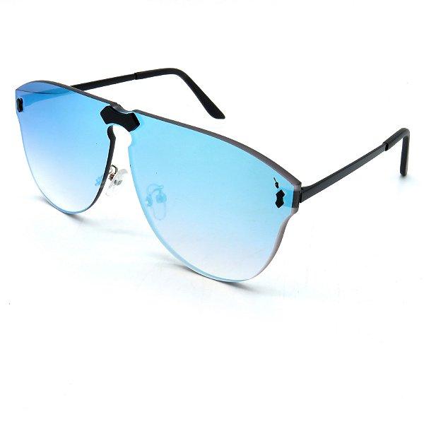 Óculos Solar Prorider Preto com lente fumê Azul-yt123