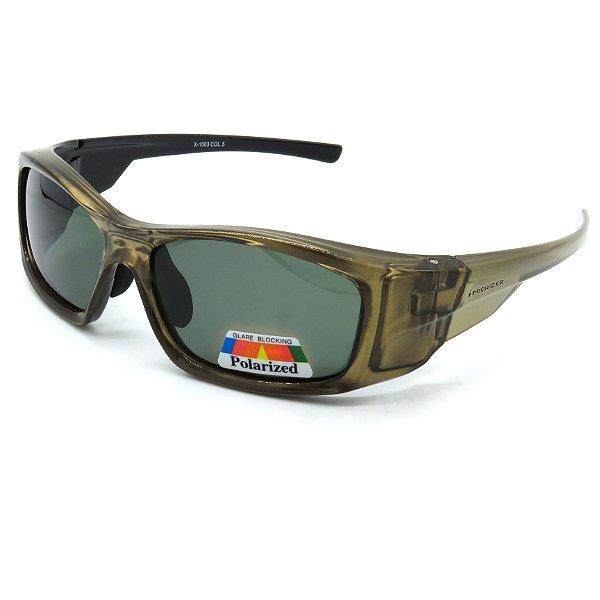 Óculos Solar Prorider Marom com lente fumê verde-re21