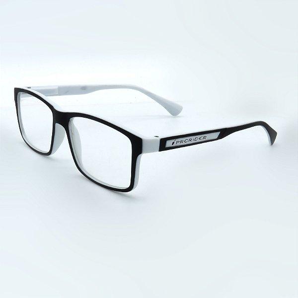 Óculos Solar Prorider Preto e Branco com lente transparente-dr43