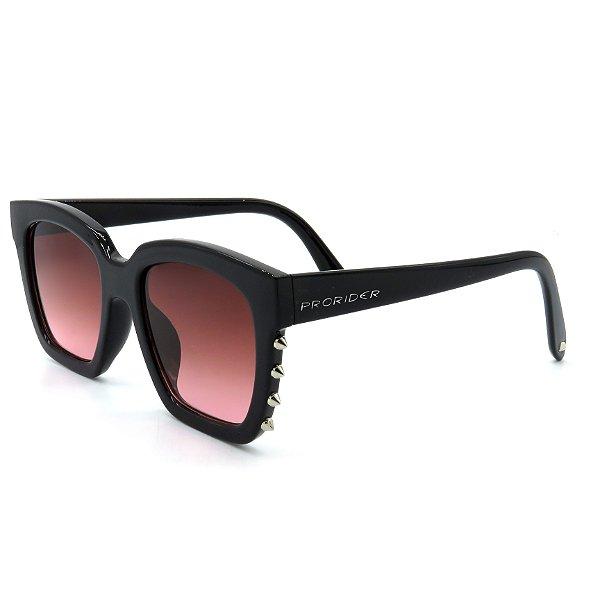 Óculos Solar Prorider preto com lente degrade vinho  - R8664 C2