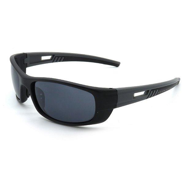 Óculos de Sol Prorider Esportivo Preto e Cinza Com Lentes Fumê - BIOTOM24