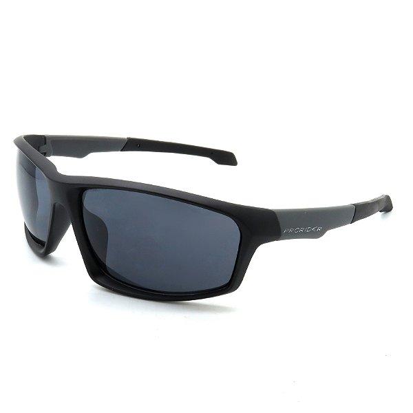 Óculos de Sol Prorider Esportivo Preto e Cinza com Lentes Fumê - BIOTOM25