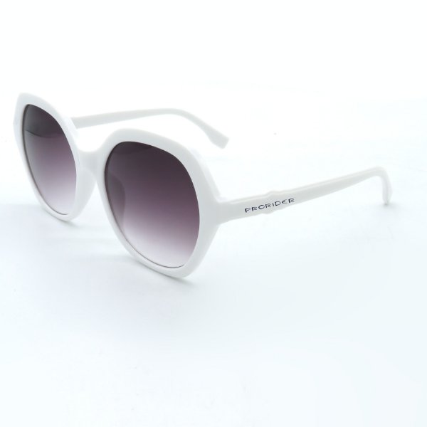 Óculos de Sol Prorider Casual Branco com Lentes Fumê Degradê - BIOTOM26